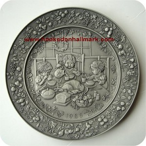 1985 Christmas Pewter Plate #9 - Home For Christmas