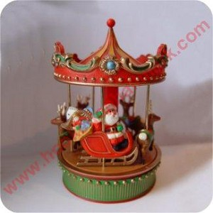 Christmas Carousel  - Rotates & Plays Slowly - in box