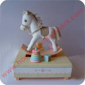 Rocking Horse Musical Decoration - in box
