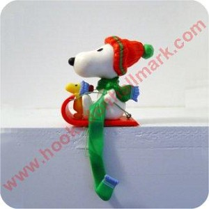 Snoopy Stocking Hanger - in box