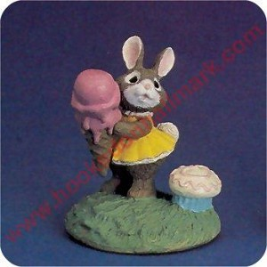 Bunny With Ice Cream - Tender Touches Figurine