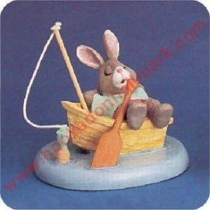 Bunny in Boat - Tender Touches Figurine
