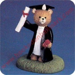 Bear With Diploma - Tender Touches Figurine