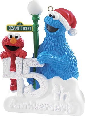 2014 elmo and cookie monster carlton ornament