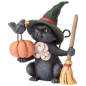 black cat figurine jim shore heartwood creek - Black Cat Christmas Ornament