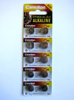 LR43 - AG12 Alkaline Cell Batteries, 10 Pack