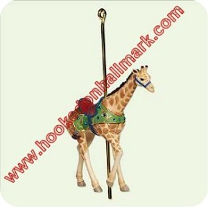 "<font face=""arial"" size=""2""><b>2005 Carousel Ride #2 - Proud Giraffe</b><br>2005 Hallmark Keepsake Series Ornament <br><i> (Scroll down for additional details) </i> </font>"