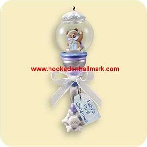2006 babys first christmas rattle