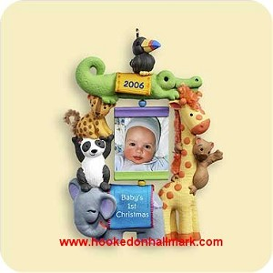 2006 Baby's First Christmas Hallmark Photoholder Ornament at Hooked ...