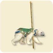"<font face=""arial"" size=""2""><b>2007 Carousel Ride #4 - Grand Polar Bear</b><br>2007 Hallmark Keepsake Series Ornament <br><i> (Scroll down for additional details) </i> </font>"
