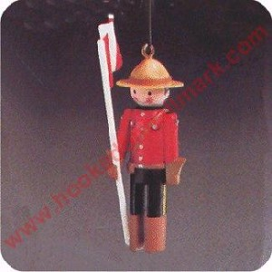 1984 Clothespin Soldier #3 Canadian Mountie