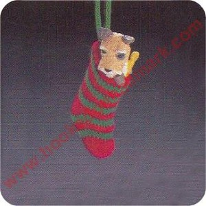 1985 Doggy in a Stocking