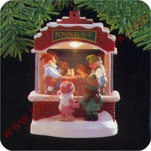 "<font face=""arial"" size=""2""><b>1988 Kringles Toy Shop</b><br>1988 / 1989 Hallmark Keepsake Magic Ornament <br><i> (Scroll down for additional details) </i> </font>"