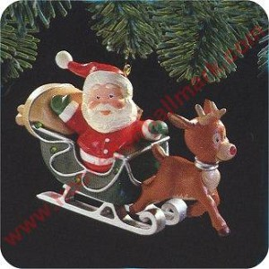 1989 Rudolph The Red Nosed Reindeer - LIGHTED