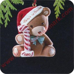 1989 Babys First Christmas - Bear - RARE