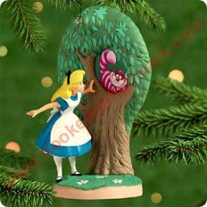 "<font face=""arial"" size=""2""><b>2000 Alice Meets the Cheshire Cat</b><br>2000 Hallmark Keepsake Disney Ornament <br><i> (Scroll down for additional details) </i> </font>"