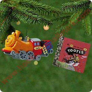 2001 Tootle the Train with mini Golden Book