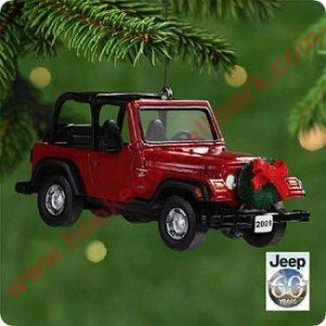Jeep Christmas Ornament.2001 Jeep Sport Wrangler