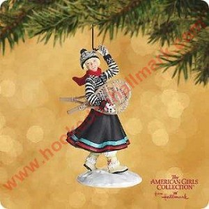 "<font face=""arial"" size=""2""><b>2002 Kirsten - American Girls Collection</b><br>2002 Hallmark Keepsake Ornament <br><i> (Scroll down for additional details) </i> </font>"