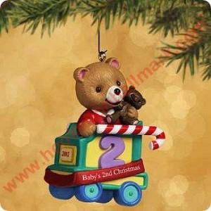 2002 Baby's Second Christmas, Child's Age Series Hallmark Ornament