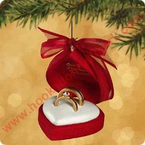 2002 our first christmas together - Christmas Ornament Ring Box