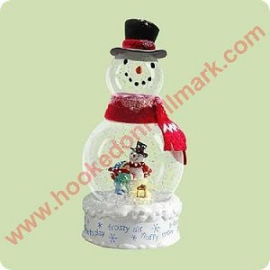2004 Frosty Fun - Lighted large Snowglobe * DOES NOT LIGHT UP*