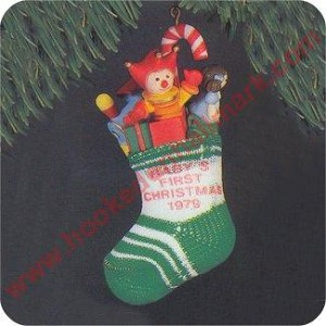 1979 Babys First Christmas - Stocking - NB - Rare!