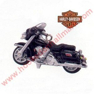 "<font face=""arial"" size=""2""><b>1999 Miniature Harley Davidson #1 - Electra Glide </b><br>1999 Hallmark Keepsake Miniature Ornament <br><i> (Scroll down for additional details) </i> </font>"