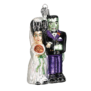 Frankenstein and Bride - Old World Christmas Blown Glass