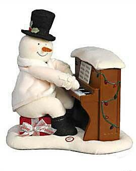 2005 Piano Playing Snowman - Plush Tabletopper - Music - NO MOVEMENT