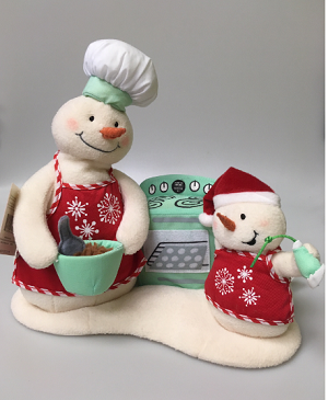 Musical Snow-Chefs - RARE Canadian Exclusive  *MUSICAL PLUSH TABLETOPPER*