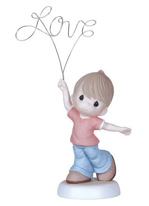 Love You Above All, Boy - Precious Moments Figurine