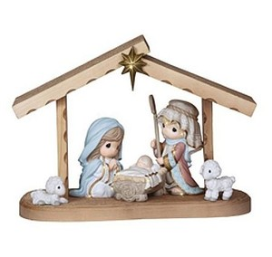 "Precious Moments Nativity Set - 9""H Stable & 5 Figurines"