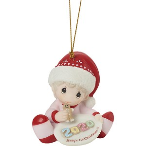 Precious Moments Babys First Christmas Ornament 2020 2020 Baby's First Christmas, Girl   Dated Precious Moments