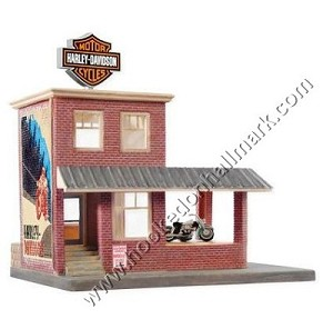 "<font face=""arial"" size=""2""><b>2008 More Than a Store, Harley Davidson</b><br>2008 Hallmark Keepsake Magic Ornament <br><i> (Scroll down for additional details) </i> </font>"