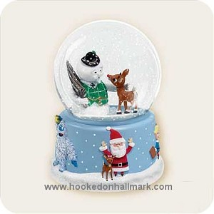 2006 Rudolph and Friends Snow Globe - Musical - DB