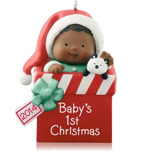 2014 babys first christmas african american