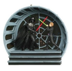 "<font face=""arial"" size=""2""><b>2008 Final Confrontation, Star Wars</b><br>2008 Hallmark Keepsake Magic Ornament <br><i> (Scroll down for additional details) </i> </font>"