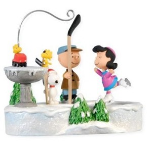 "<font face=""arial"" size=""2""><b>2008 Peanuts on Ice</b><br>2008 Hallmark Keepsake Magic Ornament <br><i> (Scroll down for additional details) </i> </font>"