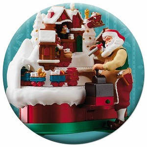 2018 Santas Magic Train Button